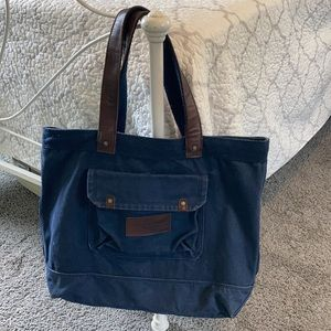 Abercrombie & Fitch Canvas Tote Leather Handles